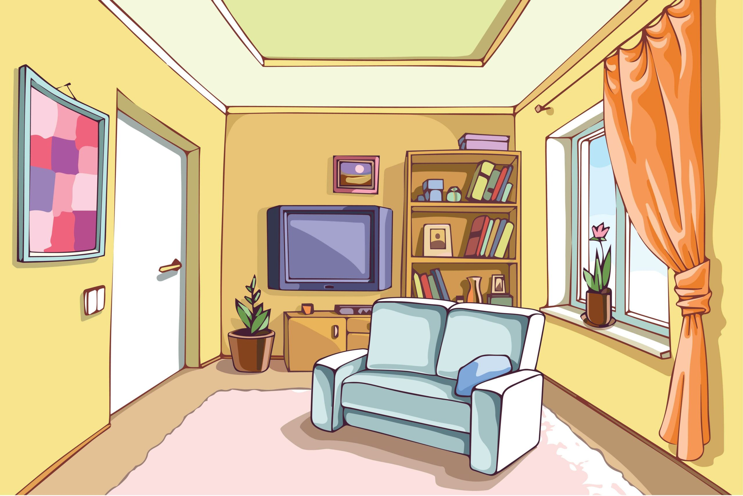 Картинки квартиры внутри для детей